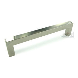 """Top Knobs - Asbury Collection - 5 1/16"""" Square European Bar Pull In Polished Nic -"""