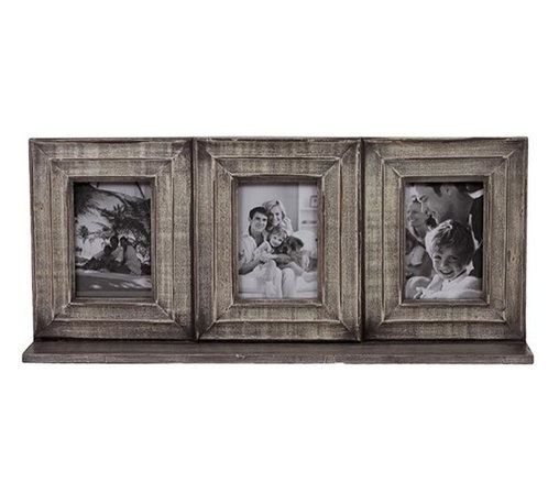 Urban Trends Collection - Wooden Picture Frame - Three photo slots. Natural finish. 25.5 in. L x 4.5 in. W x 11 in. H (4.51 lbs.)Great addition for your home decor.