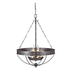 """Murray Feiss - Murray Feiss F2828/6 Live, Laugh, Love 6 Light 1 Tier Chandelier with 72"""" Chain - Features:"""
