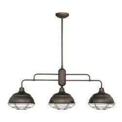 Millennium Lighting - Millennium Lighting 5313 Neo-Industrial 3 Light Single Tier Linear Chandelier - Features: