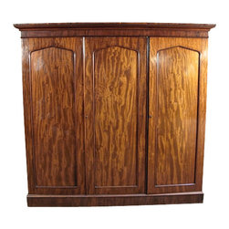 Antiques - Antique English Victorian Mahogany Sectional Armoire Wardrobe - Country of Origin: England
