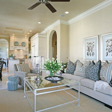 Beach Style Living Room by Naples Kitchen and Bath