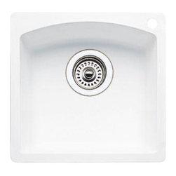 Blanco - Blanco Bar Sink Single Bowl Composite Self Rimming One Hole White (440205) - Blanco 511-636 Bar Sink Single Bowl Composite Self Rimming One Hole, White