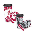 Tervis - Tervis University of Alabama Crimson Tide Wrap Tumbler with Black Lid - Hydrate and proudly display your allegiance to your alma mater with this University of Alabama Tervis Wrap Tumbler featuring a colossal Alabama Crimson Tide logo. Double walled insulation greatly reduces condensation and sweating.