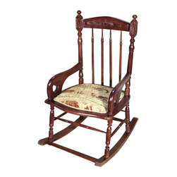 MBW Furniture - Cherry Windsor Rocking Chair - Mahogany finish