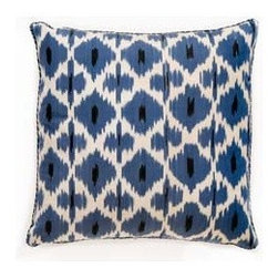 Blue Daphe Pillow - Oh how I adore Madeline Weinrib and just about everything she creates! But I must admit this Blue Daphne Pillow is a favorite. The blue, black and white combo could even work in a masculine space.