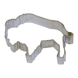 RM - Buffalo 4 In. B1256X - Buffalo cookie cutter, made of sturdy tin, Size 4 in., Depth 7/8 in., Color silver