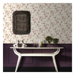 Graham & Brown - Rose Cottage Wallpaper - Classical rose cottage wallpaper - this small scale climbing rose wallpaper compliments the other floral papers in this collection and also compliments the colours which have been put to gether the cream, beige, pink will add a soft side to you but will also add the relaxing feel to your home.