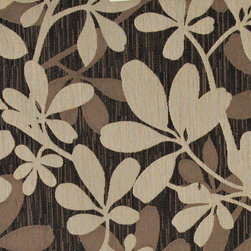 Brown, Beige and Midnight, Abstract Leaves Contemporary Upholstery Fabric By The - This contemporary upholstery jacquard fabric is great for all indoor uses. This material is uniquely designed and durable. If you want your furniture to be vibrant, this is the perfect fabric!