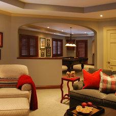 Traditional Basement by Quartersawn Design Build