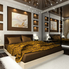 contemporary rendering by Vicki Bergelt Interior Design
