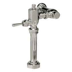 """Toto - Toto TMT1LN Nickel Chrome Toilet Flushometer Valve Only 1.28 GPF - Toto TMT1NNC-32 is a manually operated exposed toilet 1.28 gallon per flush valve with a 1 1/2"""" vacuum breaker assembly. Featuring Piston Operation for fewer service calls and reduced Maintenance costs. Standard Size will fit most applications. The Toto TMT1NNC-32 has a Self-Cleaning Debris Screen So the valve Won't Clog and does not require scheduled maintenance and has a polished chrome finish."""