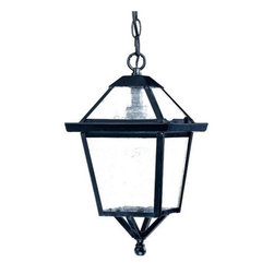 "Acclaim Lighting - Acclaim Lighting 7616 Charleston 1 Light 14"" Height Outdoor Pendant - Acclaim Lighting 7616 Charleston One Light 14"" Height Outdoor PendantThis outdoor pendant from the Charleston Collection features a beautiful glass enclosure with a metal framework.Acclaim Lighting 7616 Features:"