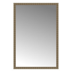 """Posters 2 Prints, LLC - 56"""" x 82"""" Sevilla Silver Custom Framed Mirror - 56"""" x 82"""" Custom Framed Mirror made by Posters 2 Prints. Standard glass with unrivaled selection of crafted mirror frames.  Protected with category II safety backing to keep glass fragments together should the mirror be accidentally broken.  Safe arrival guaranteed.  Made in the United States of America"""