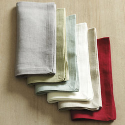 Ballard Designs - Marseille Linen Napkins - Set of 4 - Imported. Matches Marseille Placemats. 100% linen. Our Marseille Napkins are dressy enough for formal events, yet perfect for everyday use. Plus, they're machine washable, so just throw them in the washer after using. Set of 4 Marseilles Linen Napkins features: . . . *Monogramming available for an additional charge.*Allow 3 to 5 days for monogramming plus shipping time.*Please note that personalized items are non-returnable