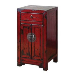 Uttermost - Uttermost Harkin Red Accent Chest - 24357 - Uttermost's accent tables combine premium quality materials with unique high-style design.