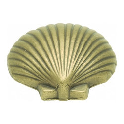 "Belwith Hickory Hardware - 1-3/8"" Long South Seas Knob - Antique Mist - 1-3/8"" Long South Seas Knob - Antique Mist"