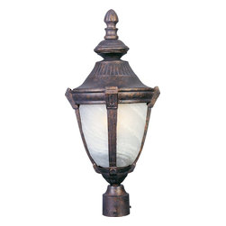 Maxim Lighting - Maxim Lighting Wakefield -Outdoor Pole/Post Lantern X-BERM1304 - Greek and Roman influences give a unique charm to this traditionally styled Maxim Lighting outdoor post lantern. From the Wakefield Collection, this post light comes in an Empire Bronze hue that accentuates the Mediterranean inspired elements. Marble glass in a sleek, fluid shape completes the look.