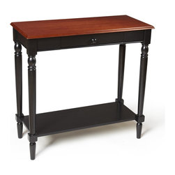 Convenience Concepts - Convenience Concepts Accent Table X-8812406 - The French Country Hall Table is a perfect addition to any home. Featuring a drawer for concealed storage and a bottom shelf for additional storage or display. Also featuring a beautiful two tone wood grain finish, and carved legs. Although this hall table is ideal for entryways and halls in size, this is one piece you won't want to hide.