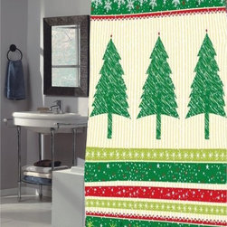 Other Brands - Carnation Home Fashions Tannembaum Christmas Holiday Fabric Shower Curtain Multi - Shop for Shower Curtains from Hayneedle.com! A contemporary way to decorate for Christmas this Carnation Home Fashions Tannembaum Christmas Holiday Fabric Shower Curtain brings holiday charm to your bath. A seasonal shower curtain this one is decorated with yellow-and-white vertical stripes green-and-red horizontal stripes and large Christmas trees. As well-made as it is cheerful this curtain is made of machine-washable polyester fabric.About Carnation Home FashionsYour home your style Carnation Home Fashions believes in this motto. That s why this home fashions company offers a wide range of on-trend and classic products designed for style and convenience. Perfect for matching today s busy lifestyles their bath products meet your needs in style. Carnation Home Fashions is based in Newburgh New York.