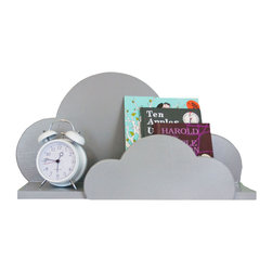 Littles - Cloud Wall Shelf, Gray - This is a darling shelf for a nursery or child's room.