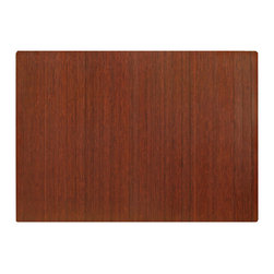 """Anji Rugs - Bamboo Roll-Up Chairmat, 72"""" x 48"""", no lip - Dark Cherry - Our patented Bamboo Office Chairmats have introduced eco-friendly style to what was formerly an unattractive and purely functional accessory. Naturally elegant bamboo is more durable than a plastic mat and adds a charming organic touch to any area."""