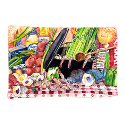 Caroline's Treasures - Gumbo and Potato Salad Fabric Standard Pillowcase Moisture Wicking Material - Standard White on back with artwork on the front of the pillowcase, 20.5 in w x 30 in. Nice jersy knit Moisture wicking material that wicks the moisture away from the head like a sports fabric (similar to Nike or Under Armour), breathable performance fabric makes for a nice sleeping experience and shows quality. Wash cold and dry medium. Fabric even gets softer as you wash it. No ironing required.