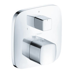 Hansgrohe - Hansgrohe 15771401 PuraVida Thermostatic Trim - Trim, Thermostat with Shut Off Valve and Diverter