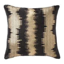 Nate Berkus Foil Print Decorative Pillow, Black/Gold - Black and gold against navy hues sounds downright dreamy. (Don't you think?) Besides, you can never have too many pillows in the bedroom.