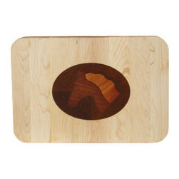 Kentucky Cutting Boards - Appalachian Maple Classic Board with Horse Head - If you love to ride, you already know that you always have your horse in mind. This beautifully inlaid maple cutting board captures the gentle sweetness of your equine friend, even when you're not together. Solid enough for everyday use, but handsome enough for display, it's an elegant tribute to the equestrian lifestyle.