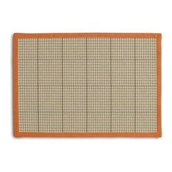 Tan Small Houndstooth Tailored Placemat Set - Class up your table's act with a set of Tailored Placemats finished with a contemporary contrast border. So pretty you'll want to leave them out well beyond dinner time! We love it in this