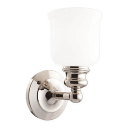 "Hudson Valley Lighting - Hudson Valley Lighting 2301 Single Light 5"" Wide Bathroom Fixture from the River - *Riverton Collection 1 Light Wall Sconce Vintage in style and classic for all decors 5"" W x 10"" H x 6 3/4"" E 1-100w Medium Base (Not Included)"