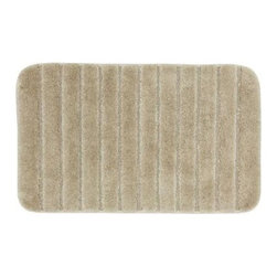 """Unbranded - Floor Mat: Gateway Latte 21"""" x 34"""" Bath - Shop for Flooring at The Home Depot. Add softness underfoot with these nylon bath rugs. A stylish way to add warmth to tile floors, these rugs are available in an array of designer colors. The rug features a skid-resistant latex backing to help prevent sliding and is machine washable for easy care."""