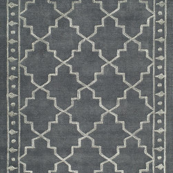 Momeni - Momeni Sensations SEN10 (Charcoal) 8' x 10' Rug - As unique as it is striking, Sensations is an elegant group of transitional designs, all of which feature an exceptional over-tufting technique. Tufted of wool, each design is over-tufted with supple art-silk, further enhancing their beauty.