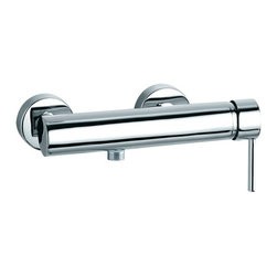 Ramon Soler - Wall Mounted Shower Mixer with Ecoplus Water Saving - If your bathroom lacks a 1 hole, single handle (lever handle style) tub filler, why not consider this high-end tub filler from the Ramon Soler Drako collection? Perfect for more contemporary settings, this luxury tub filler is wall mount and finished in chrome.