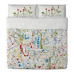 EIVOR LEVA Duvet cover and pillowcase(s) - Duvet cover and pillowcase(s), multicolor