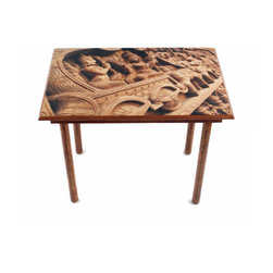 My Méz - Wood Carving Table/Wall Art - It's a table; It's wall art. It's BOTH, and It's Made In the USA!