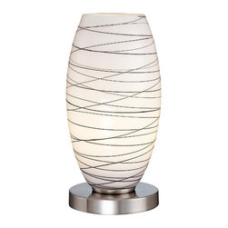 Lite Source - Table Lamp, Ps With Glass Shade, Type B 60W - Table Lamp, Ps W/Glass Shade, Type B 60W