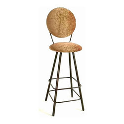 "Grace - 24"" Circular Back Swivel Stool - Features: -Painted according to your choice of metal finish. -Ships fully assembled. -Dimensions: 18"" W x 20"" D x 43"" H. -Seat height: 24"". -Artistically crafted in wrought iron. -Available in 12 designer metal finishes. -Suited for Residential use only. About Grace Grace Manufacturing is a metal and wrought iron furniture manufacturing company located in Rome, GA. The company has been in business for 25 years and continues to employ skilled artisans and craftsmen. In addition to their state of the art manufacturing equipment they still assemble and finish many products by hand. Many items in the Grace Collection are fully hand made or hand painted. With products ranging from barstools, counter stools, and dinettes to wrought iron beds, hanging potracks, bakers racks and more, Graces line meets all professional and home needs. By implementing unique styles and ideas to traditional products, Grace has created an exceptional balance between creativity and practicality. Their design styles range somewhere between whimsical, neo classic and traditional, thus creating a truly astonishing decor for any inside space."
