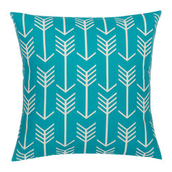 Look Here Jane, LLC - Arrow Apache Blue Pillow Cover - PILLOW COVER