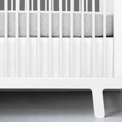 OLLI+LIME - WHITE CRIB SKIRT - Heavyweight cotton crib skirt in solid white. Fits standard-sized US crib.
