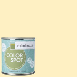 ColorSpot Eggshell Interior Paint Sample, Grain .01, 8-oz - Test color before you paint with the Colorhouse Colorspot 8-oz  paint sample. Made with real paint and in our most popular eggshell finish, Colorhouse paints are 100% acrylic with NO VOCs (volatile organic compounds), NO toxic fumes/HAPs-free, NO reproductive toxins, and NO chemical solvents. Our artist-crafted colors are designed to be easy backdrops for living.