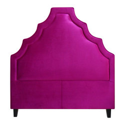 My Chic Nest: Headboards - Chic, velvet, Hollywood Regency, Regal, Glamorous, dramatic, drama, upholstered headboard, pink, classy,