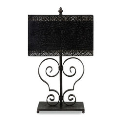IMAX CORPORATION - Arabesque Table Lamp - Sophisticated cast iron arabesque table lamp with scroll design and metal shade. Find home furnishings, decor, and accessories from Posh Urban Furnishings. Beautiful, stylish furniture and decor that will brighten your home instantly. Shop modern, traditional, vintage, and world designs.