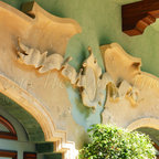 """01.18 Tarpon Point/ Intercoastal Waterways/ Fort Lauderdale Residence - """"The Cartouche & Banner"""" designed by Dale, was one of the highlights at the Tarpon Point Residence."""
