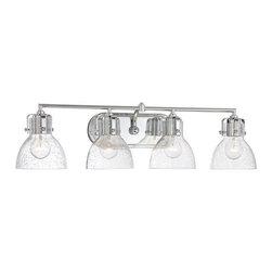 "Minka Lavery - Minka Lavery 5724 4 Light 31.5"" Width Bathroom Vanity Light with Clear Seeded Sh - Four Light 31.5"" Width Bathroom Vanity Light with Clear Seeded ShadeFeatures:"