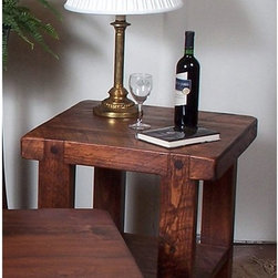 2 Day Designs - 2 Day Designs Reclaimed Russian River End Table Multicolor - WV106 - Shop for Wine Bottle Holders and Racks from Hayneedle.com! If furniture could talk this Russian River End Table by 2-Day Designs would have quite a story to tell. Its distinguished character comes from years spent as an oak barrel used in the fermentation and aging process of wine. In today's hurry-up world that kind of character is almost impossible to come by. After being fashioned and crafted by the hands highly trained woodworkers the rich pine finish is added highlighting the table's natural grain beauty. Measuring 24W x 25H x 24D inches this table features classic Shaker/ Mission styling for an old world look and its sturdy construction promises that it will remain beautiful for another 100 years. Each step of the process is carefully monitored to ensure that the highest quality standards are maintained from beginning to end. Be sure to check out this and all the other unique eco-friendly furniture products offered by 2-Day Designs.About 2-Day Designs2-Day Designs furniture offers a wide variety of environmentally friendly furniture. Located in Eastanollee Ga. their unique collections feature recycled antique lumber whenever possible. From dining tables and chairs to occasional tables hutches cupboards trunks and display cases you'll be drawn to all their creative designs. Each step of the manufacturing process is carefully monitored by journeymen woodworkers to ensure that the highest quality standards are met from beginning to end. Be sure to check out all the unique eco-friendly furniture products offered by 2-Day Designs and take advantage of one of the nation's fastest growing furniture trends.