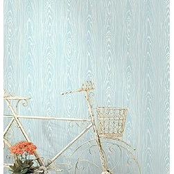 Wallcovering - Dining Room - Blueish Wood Pattern? Find your favorite printed designs!