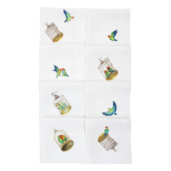 Lovebirds Linen Napkin, Set of Four