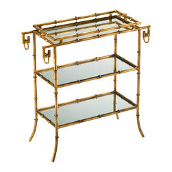 Cyan Design - Cyan Design Lighting 04208 Bamboo Tray Table - Cyan Design 04208 Bamboo Tray Table